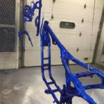 Cobalt Blue Sportster Frame and Parts